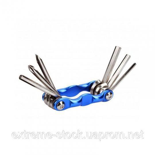Мультитул SmartTools TL-6, шестигранники + отвертки, 6 в 1, синий