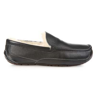 UGG Men's Ascot Metallic Black Leather