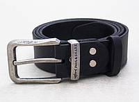 Мужской кожаный ремень Paul Shark с винтажной пряжкой