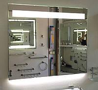 Зеркало влагостойкое 700 х 600 с ЛЕД подсветкой, фото 1