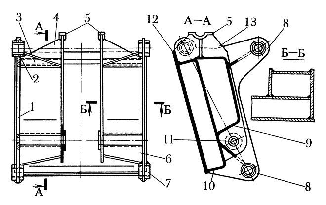 Подвеска ковша погрузчика экскаватора ЭО-3322А: