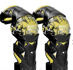 Желтые Мото наколенники шарнирные GHOST Racing Scoyco (копия)