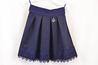 Модная расклешенная юбка в складку для девочки, р. 134-152