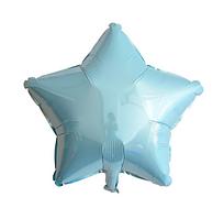 Шар звезда фольгированная, ГОЛУБАЯ - 45 см (18 дюймов)