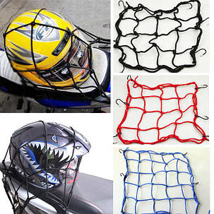 Багажная Сетка-паук 40х40 крепление шлема на багажник мото, фото 2