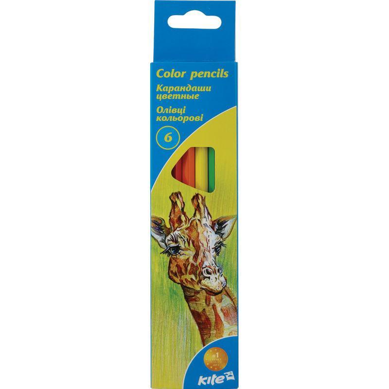 Олівці кольорові, 6 шт. Kite