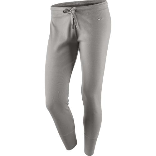 Леггинсы спортивные женские nike AD Jersey 481180 082 (серые, хлопок, повседневные, фитнес, логотип найк)