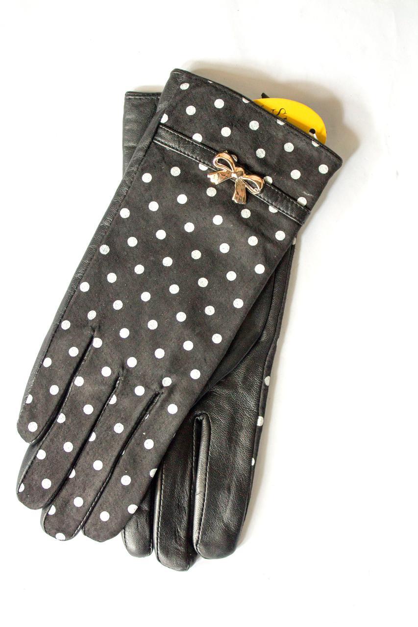 Женские кожаные перчатки  402