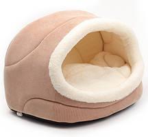 Дом-лежак для собак и кошек Природа комфорт 42х28х27 бежевый (PR240707)