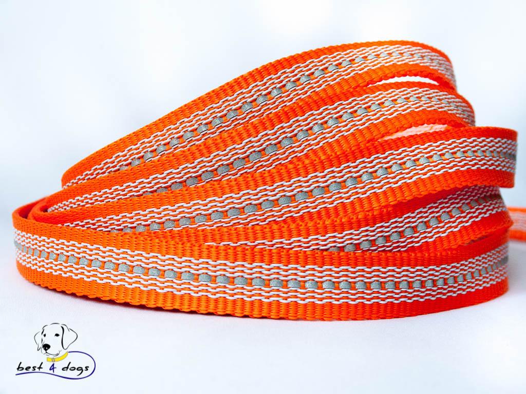 Поводок прорез.светоотражающий Оранжевый 20мм