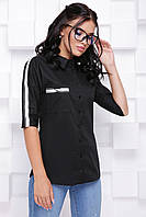 Модная женская рубашка с рукавом 3/4 с лампасами 7074/1, фото 1