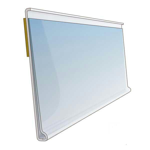 Ценникодержатели, держатели для ценников на самоклейке Прозрачные 40*80мм