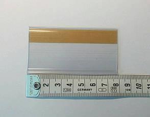 Ценникодержатели, держатели для ценников на самоклейке Прозрачные 40*80мм, фото 2