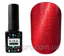 Гель-лак Kira Nails Cat Eye №001 (красно-коралловый, магнитный), 6 мл