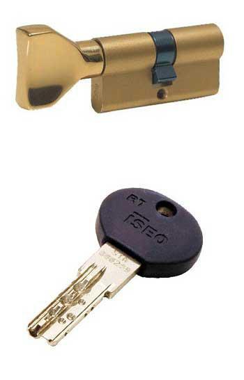 ISEO R7 95 (40х55) ключ-тумблер латунь