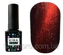 Гель-лак Kira Nails Cat Eye №004 (бордово-коричневый, магнитный), 6 мл