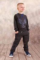 Брюки для мальчика спортивные  темно-серые, фото 1