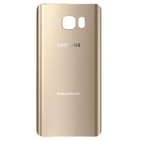 Задняя панель корпуса (крышка) для Samsung N920 Galaxy Note 5 оригинал (Золотая)