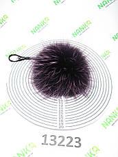 Меховой помпон Чернобурка, Фиолет, 11 см, 13223, фото 2
