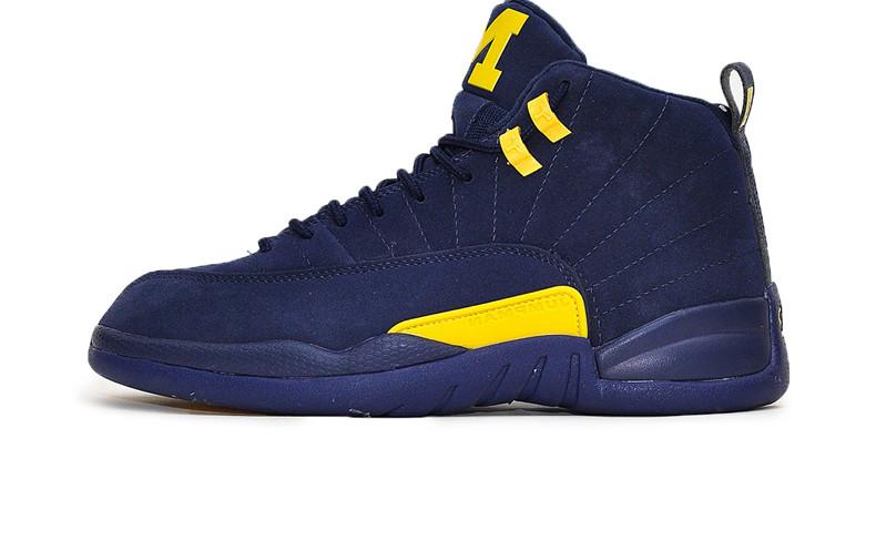 buy popular 3fd9f d6e13 Баскетбольные кроссовки Nike Air Jordan 12 Retro PSNY Michigan Blue/Yellow