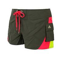 Шорты женские пляжные adidas bl 2 w shorty E13093 (оливковые, быстро сохнут, не впитывают влагу, бренд адидас)