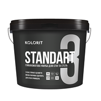 STANDART 3 глубоко матовая декоративная краска, Kolorit 0,9л