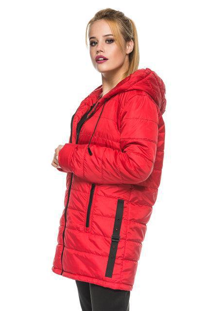 Удлиненная куртка с капюшоном весна-осень оптом и в розницу, размеры с 44 по 52. Четыре цвета