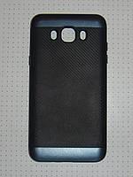 Чехол накладка iPAKY Карбон Samsung Galax J7 J710 (2016) т-синий.