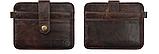Кожаный картхолдер «Geeson» на 5 отделений темный кофе, фото 6