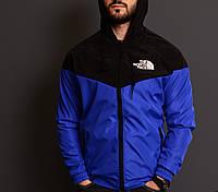 Ветровка мужская синяя с черным непромокаемая летняя The North Face ТNF Зе Норс Фейс