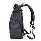 Рюкзак для ноутбука с водоотталкивающим покрытием темно-серый, фото 4