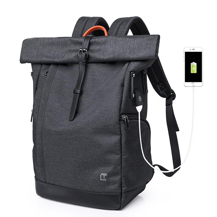 Рюкзак для ноутбука с водоотталкивающим покрытием темно-серый