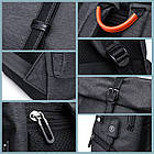 Рюкзак для ноутбука с водоотталкивающим покрытием темно-серый, фото 8