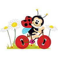 Виниловая Наклейка 160*110 см / любой размер Glozis Ladybug E-153