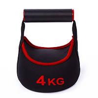 Гиря 4 кг, IronMaster, неопрен