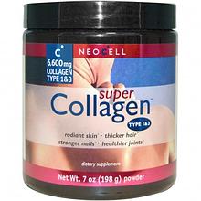 Коллаген, Neocell, Super Collagen, 198 gram