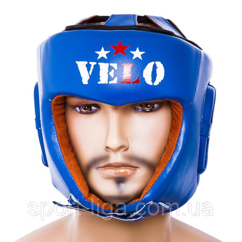 Шлем боксерский Velo AIBA, синий