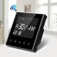 Терморегулятор для подогрева пола WIFI Onyx Black, фото 1