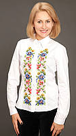 Шикарная женская рубашка с вышивкой