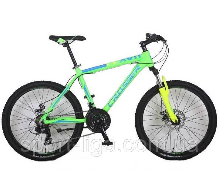 """Велосипед горный алюминиевый Crosser Flash-1 17"""" 24"""" салатный"""