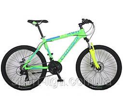 """Велосипед горный алюминиевый Crosser Flash-1 17"""" 24"""" салатный салатовый"""