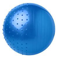 Мяч для фитнеса 65 см + насос Фитбол синий полумассажный