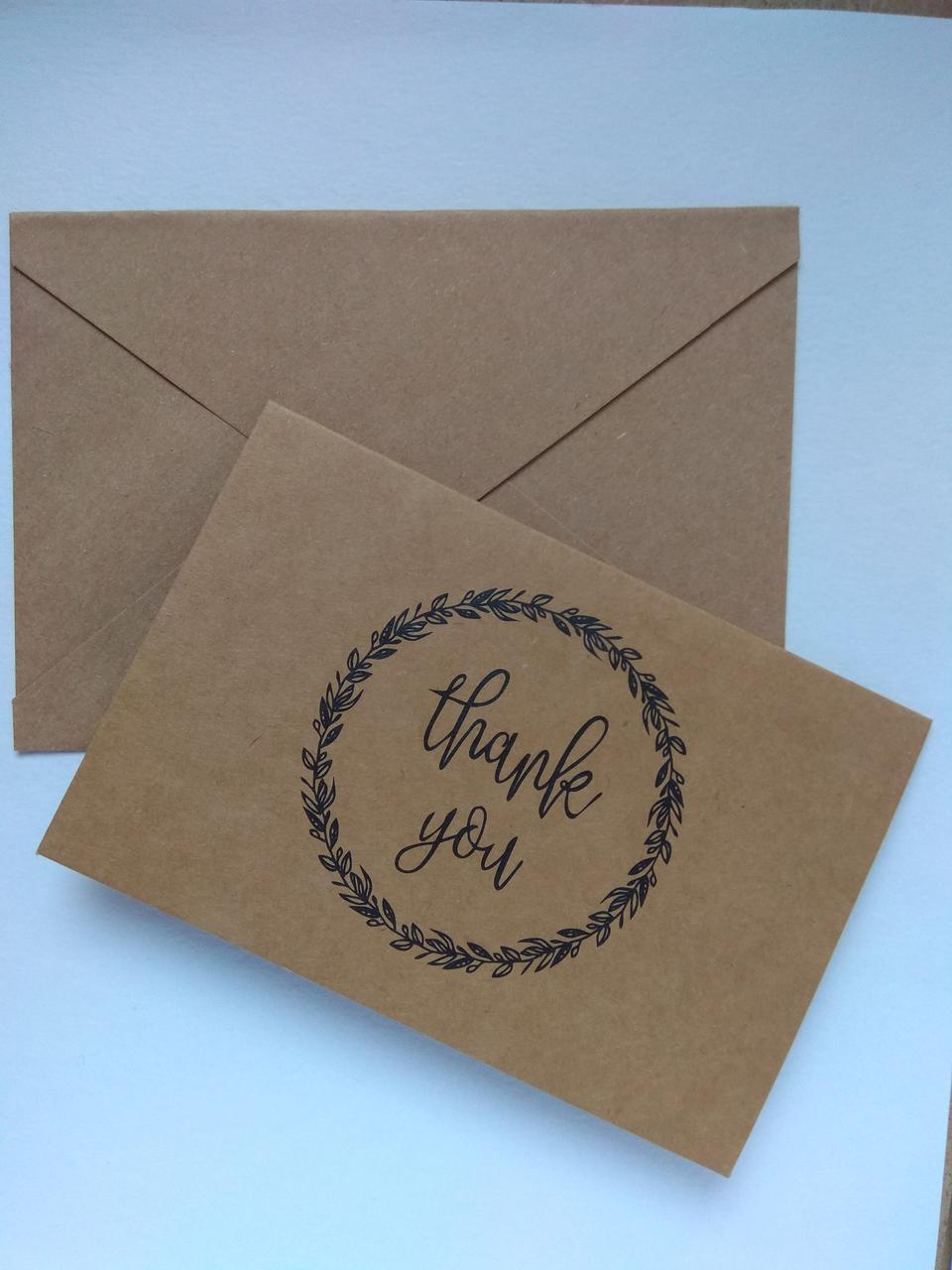 Открытка Спасибо с конвертом 4