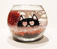 Декоративная гелевая свеча Чародейка шар Хэллоуин красный