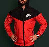 Ветровка мужская красная непромокаемая легкая все размеры Nike Найк