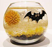 Декоративная гелевая свеча Чародейка шар Хэллоуин желтый