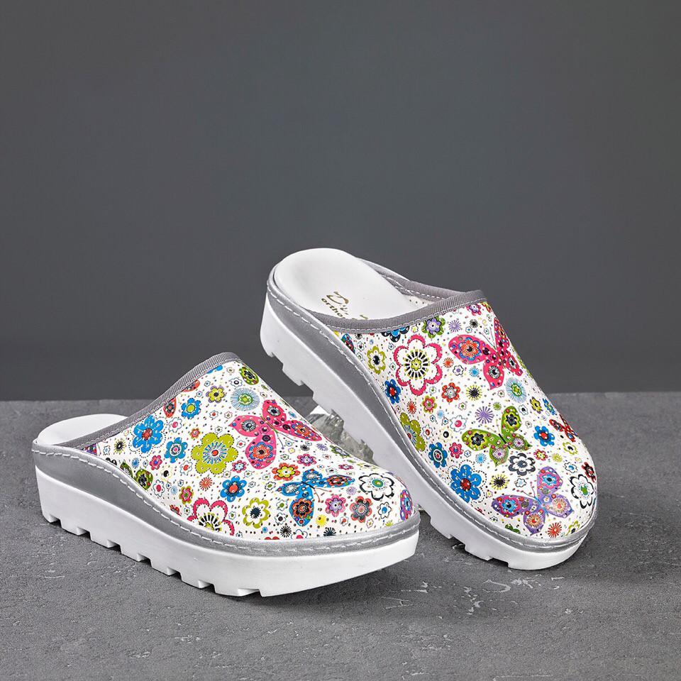 Медицинская обувь сабо бабочки