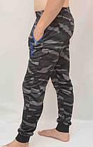 Брюки спортивные мужские трикотажные под манжет - камуфляж, фото 2