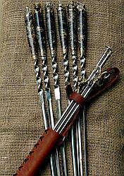 """Набор шампуров с мангалом """"Охотничьи black"""" в колчане (2мм, 69см) (наличие уточняйте)"""