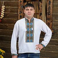 Мужская вышиванка Васильки, фото 1